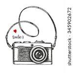 vector sketch style of retro... | Shutterstock .eps vector #345902672