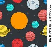 seamless doodle pattern. solar...   Shutterstock .eps vector #345909962