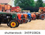 Detail Of Old Tractors In...