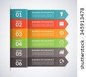 arrow business infographics... | Shutterstock .eps vector #345913478