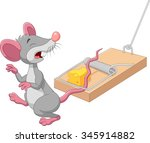 cartoon mouse sad exposed to... | Shutterstock .eps vector #345914882