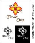 flowers logo   Shutterstock .eps vector #345917852