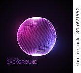 3d illuminated sphere of... | Shutterstock .eps vector #345921992