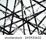 grunge white and black stripes. ... | Shutterstock .eps vector #345933632