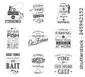 set of vintage fishing... | Shutterstock .eps vector #345942152