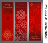 merry christmas and winter... | Shutterstock .eps vector #345944462
