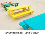 Colorful Picnic Tables