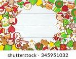 background of christmas... | Shutterstock . vector #345951032