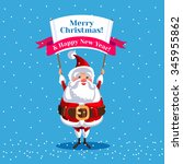 santa claus for christmas.... | Shutterstock .eps vector #345955862