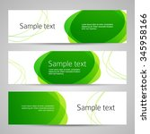 set of vector banners design... | Shutterstock .eps vector #345958166