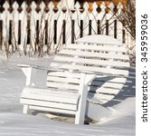 A Round Back Adirondack Chair...