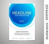 vector brochure cover design... | Shutterstock .eps vector #345959102