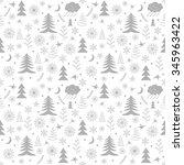 seamless christmas pattern.... | Shutterstock .eps vector #345963422