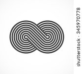 infinity symbol icon or logo...   Shutterstock .eps vector #345970778