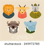 an old fashion wildlife vector... | Shutterstock .eps vector #345972785
