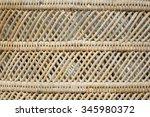 pattern of bamboo basket | Shutterstock . vector #345980372