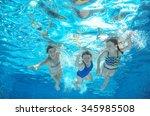 Blurred Underwater  Family Swim ...