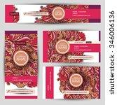 corporate identity vector... | Shutterstock .eps vector #346006136