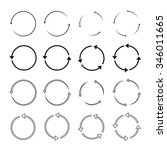 set of black circle vector... | Shutterstock .eps vector #346011665