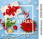 christmas typographical... | Shutterstock .eps vector #346018235