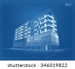 abstract 3d render of building... | Shutterstock .eps vector #346019822