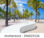 the beach at fort lauderdale in ... | Shutterstock . vector #346025126