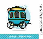 carriage doodle | Shutterstock .eps vector #346029425