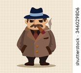 mafia theme elements | Shutterstock .eps vector #346029806