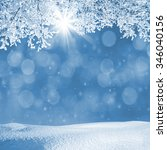 winter landscape with... | Shutterstock . vector #346040156