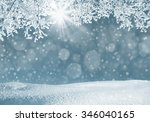 winter landscape with...   Shutterstock . vector #346040165