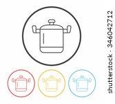 pot line icon | Shutterstock .eps vector #346042712