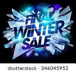 final winter sale design with... | Shutterstock .eps vector #346045952