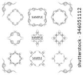 frames. decorative elements.... | Shutterstock .eps vector #346051112