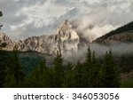 A Shaded Mountain In The...