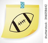 football doodle drawing | Shutterstock .eps vector #346058642