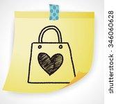 doodle love shopping   Shutterstock .eps vector #346060628