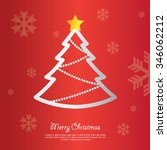 christmas tree background... | Shutterstock .eps vector #346062212