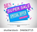 sale banner template and... | Shutterstock .eps vector #346063715