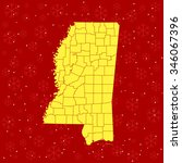 map of mississippi | Shutterstock .eps vector #346067396