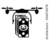 euro air copter banking vector... | Shutterstock .eps vector #346076078