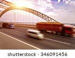 the night of modern bridge  | Shutterstock . vector #346091456