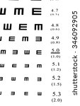 eyesight test chart on white... | Shutterstock . vector #346092905