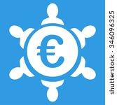 euro collaboration vector icon. ... | Shutterstock .eps vector #346096325