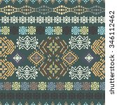 ethnic seamless pattern. ethno... | Shutterstock . vector #346112462