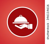 food service icon   Shutterstock .eps vector #346114616