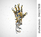 futuristic model of hand dna ... | Shutterstock . vector #346117838