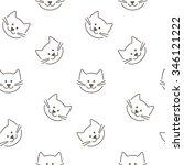 seamless cats pattern.  | Shutterstock . vector #346121222