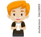 vector illustration of a boy... | Shutterstock .eps vector #346128005