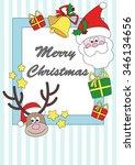 christmas card | Shutterstock .eps vector #346134656