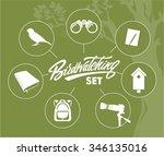 birdwatching infographic set   Shutterstock .eps vector #346135016